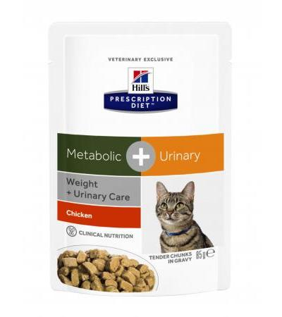 Hills Prescription Diet Metabolic Plus Urinary Frischebeutel Katze